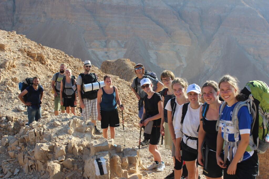 Gruppebillede fra vores vandretur