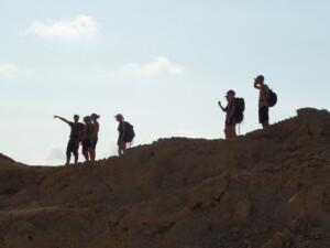 David og piloterne på højderyg