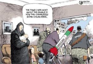 Hamas skyder fra civil beboelse under Gaza krisen