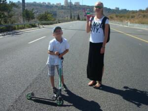 Løbehjul på motorvejen