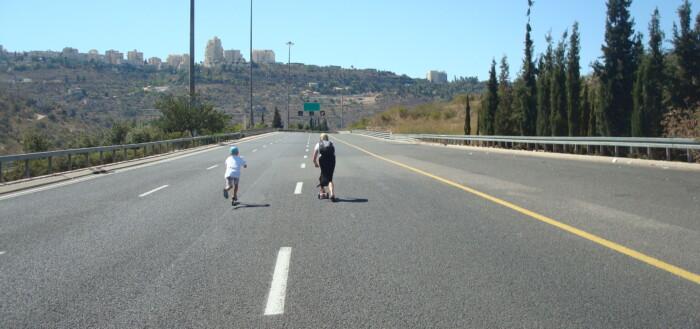 Yom kippur kapløb på motorvejen
