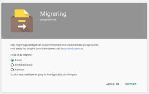 Migrering til google works