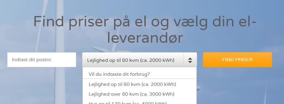 ElPris.dk - udvælg område