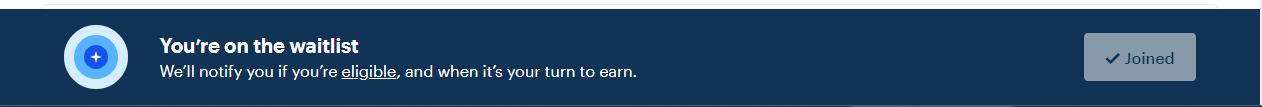 Du er nu på ventelisten til at tjene gratis crypto