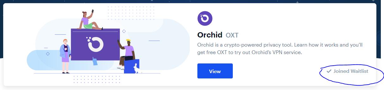 Jeg er her tilmeldt ventelisten for Orchid