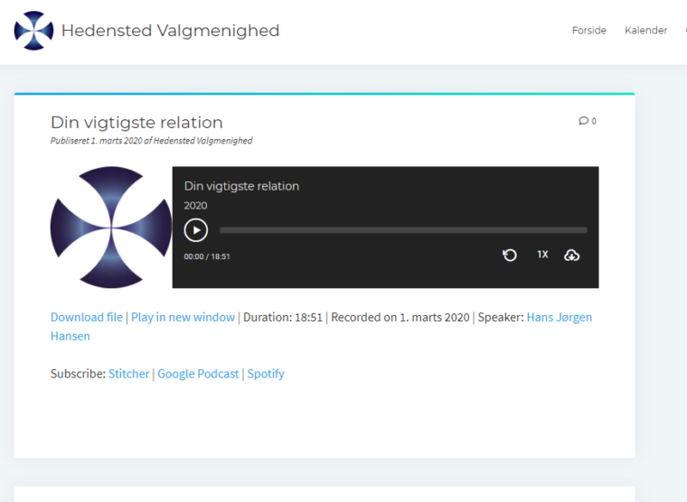 Standard Podcast layout